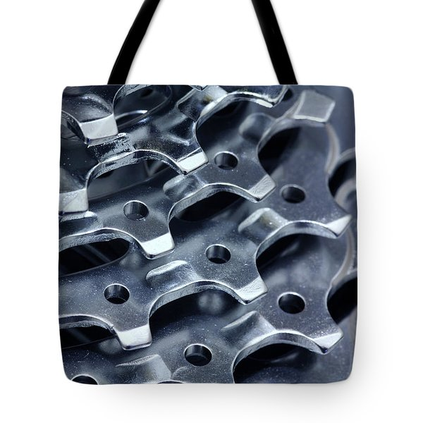 Chromed Shiny Gear Shift Tote Bag