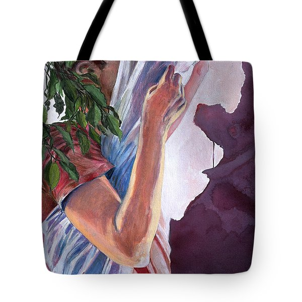 Tote Bag featuring the painting Chrysalis by Rene Capone