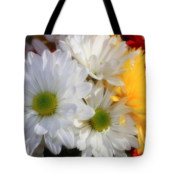 Chrysanthemum Punch Tote Bag by Cathy  Beharriell