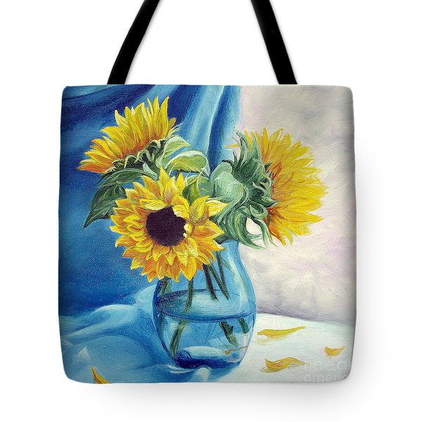 Tote Bag featuring the painting Chrysanthemums by Sorin Apostolescu