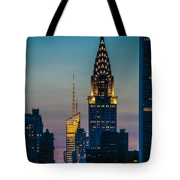 Chrysler Building At Sunset Tote Bag