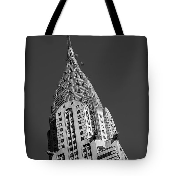 Chrysler Building Bw Tote Bag by Susan Candelario