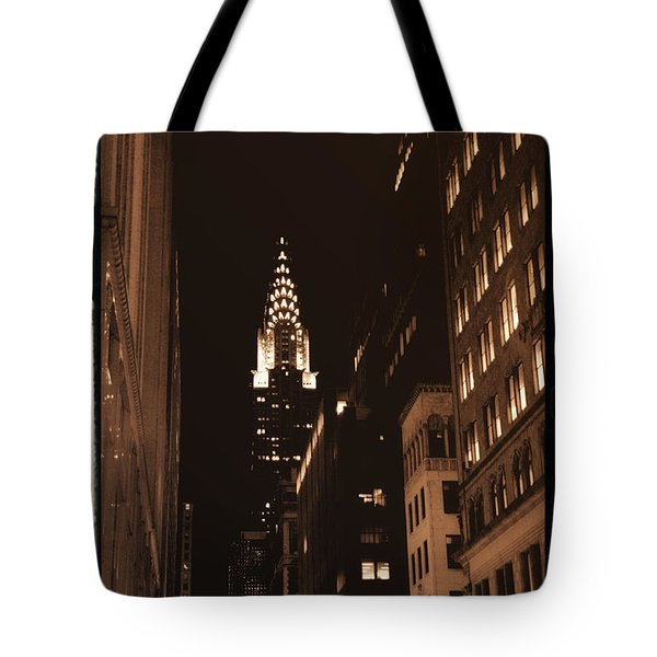 Chrysler Building Tote Bag by Donna Blackhall