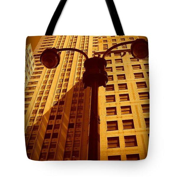 Rockefeller Building In Manhattan Tote Bag