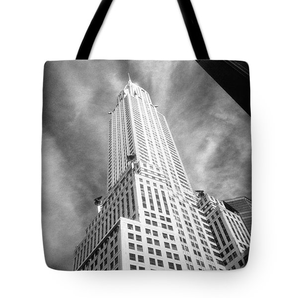 Chrysler Building Infrared Tote Bag