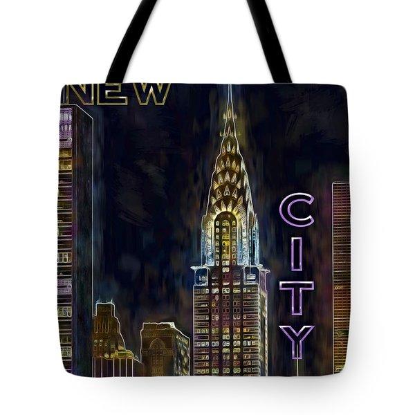 Chrysler Building New York City Nyc Tote Bag