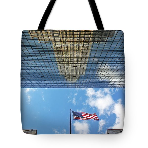 Chrysler Building Reflections Vertical 2 Tote Bag by Nishanth Gopinathan