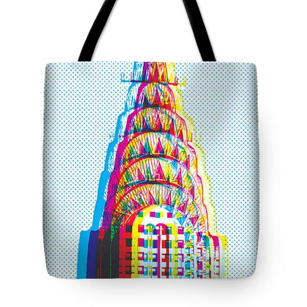 Chrysler Pop Art Tote Bag