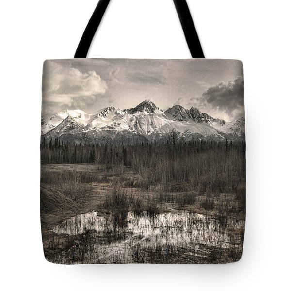 Chugach Mountain Range Tote Bag