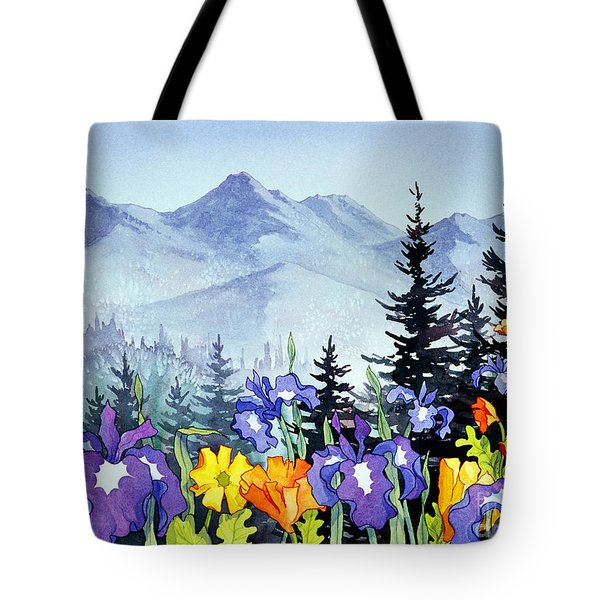 Tote Bag featuring the painting Chugach Summer by Teresa Ascone