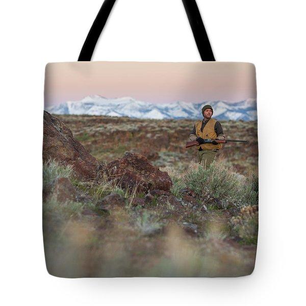 Chukar Hunting In Nevada Tote Bag
