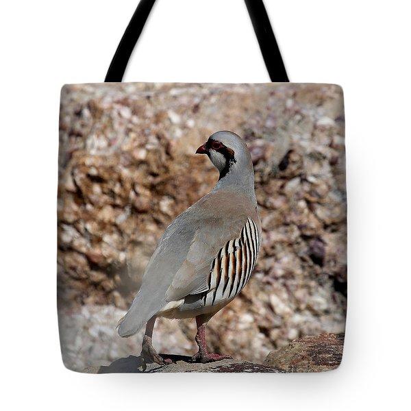 Chukar Tote Bag by Marty Fancy