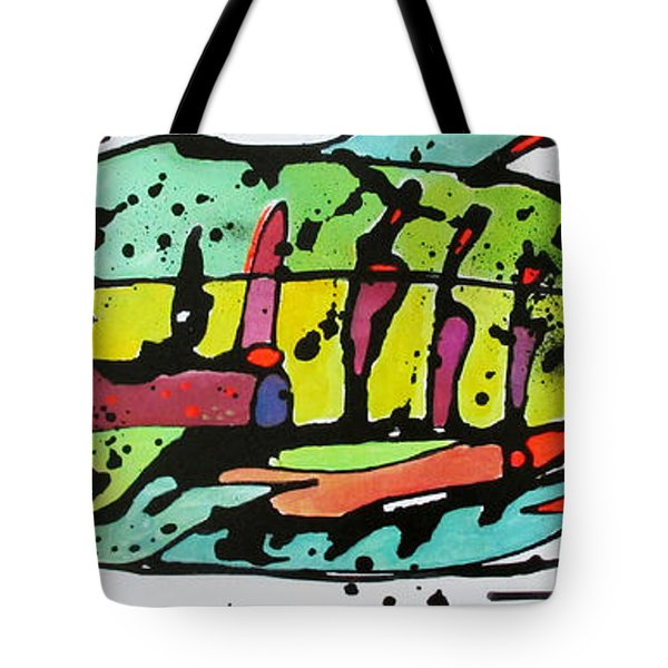 Tote Bag featuring the painting Chum by Nicole Gaitan