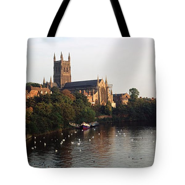 Church Along A River, Worcester Tote Bag