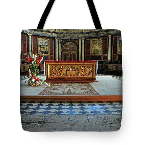 Tote Bag featuring the photograph Church Alter Provence France by Dave Mills