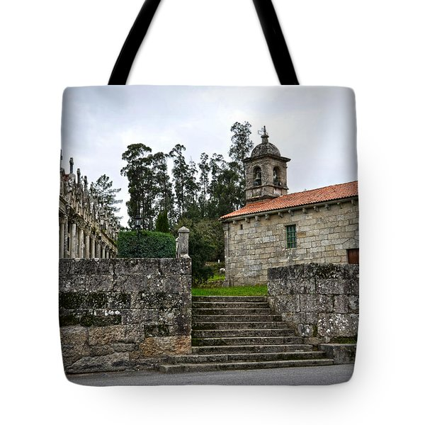 Church And Cemetery In A Small Village In Galicia Tote Bag