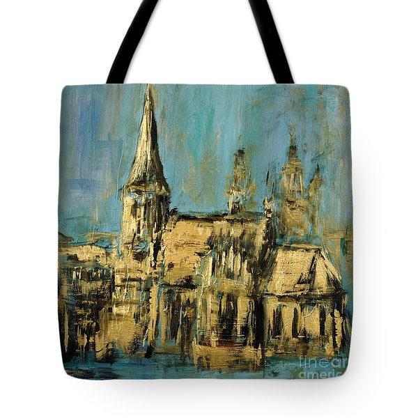 Tote Bag featuring the painting Church by Arturas Slapsys