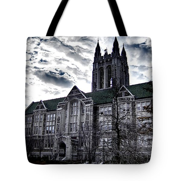 Church At Boston College Tote Bag