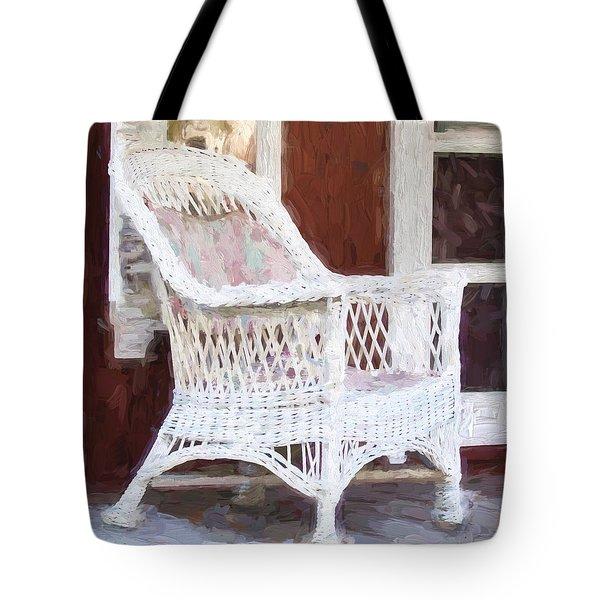 Church Camp House Detail Painterly Series 15 Tote Bag