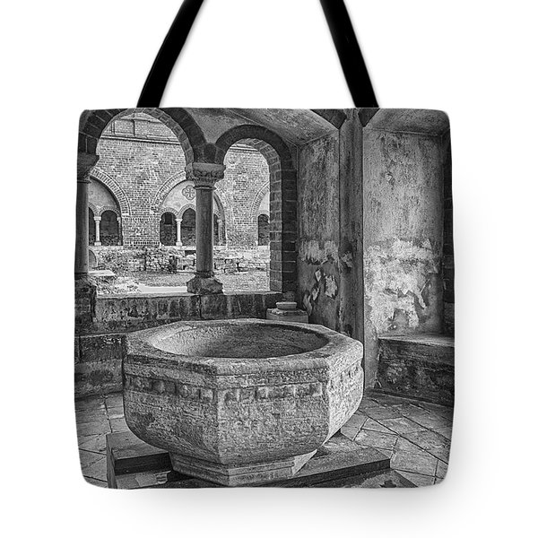 Church Christening Font Tote Bag