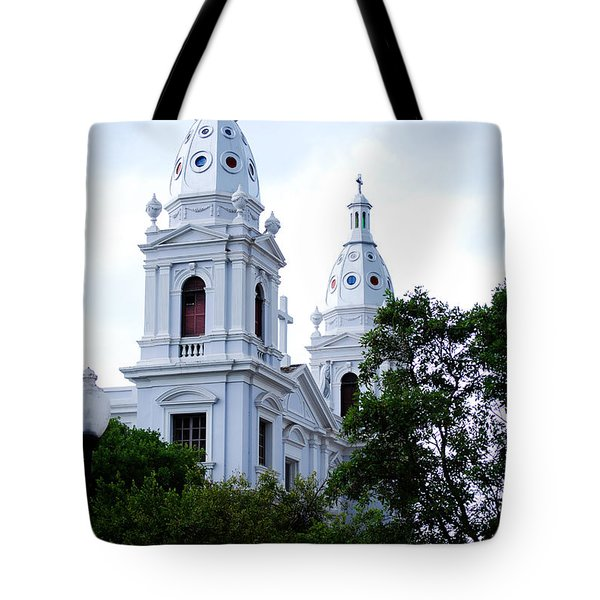 Church In Puerto Rico Tote Bag