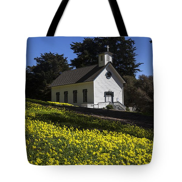 Church In The Clover Tote Bag by Garry Gay