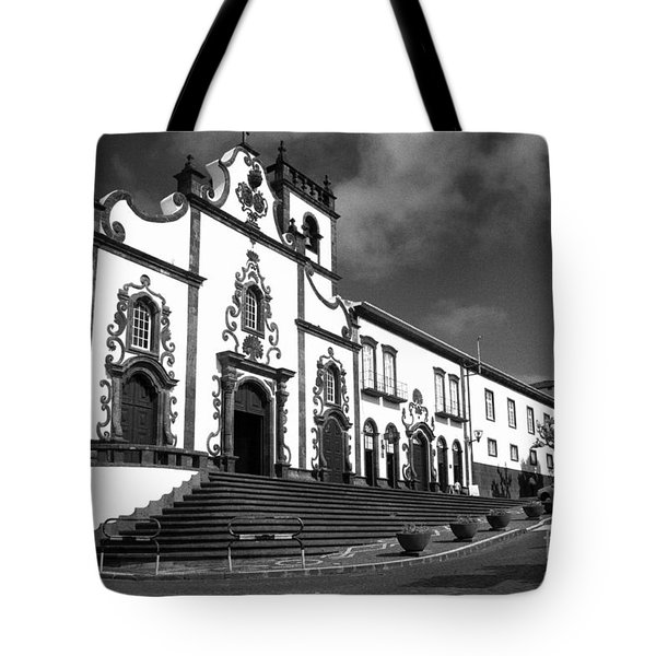 Church In Vila Franca Do Campo Tote Bag by Gaspar Avila