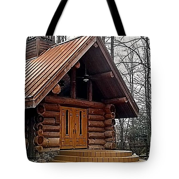 Church Tote Bag by Janice Spivey