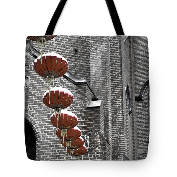 Church Lanterns Tote Bag