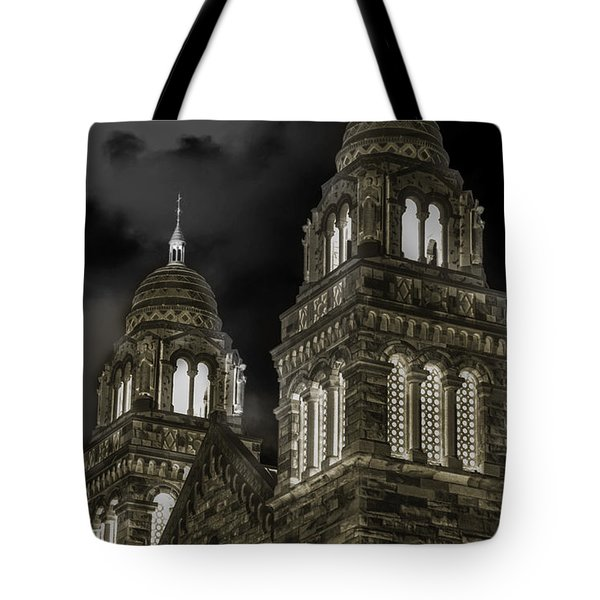 Church Lights On St. Peter Cathedral Tote Bag by Optical Playground By MP Ray