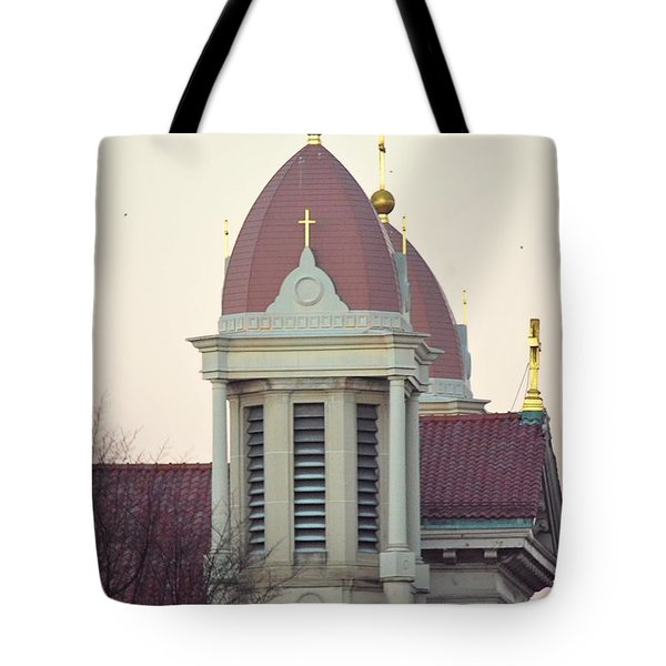 Church Of Gold Crosses Tote Bag