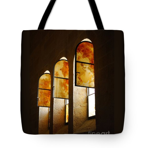 Church Of Heptapegon In Israel Tote Bag by Eva Kaufman