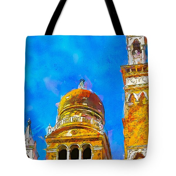 Tote Bag featuring the painting Church Of Madonna Dell'orto by Greg Collins