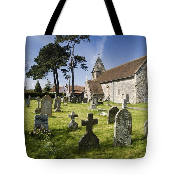Church Of St John The Evangelist - Kenn - North Somerset Tote Bag by Rachel Down