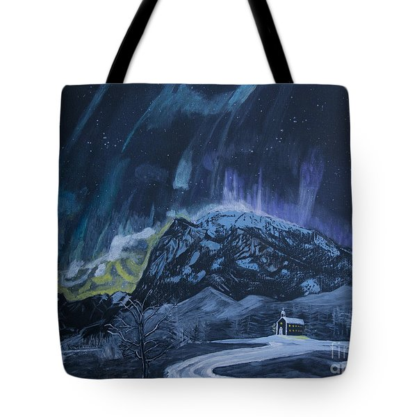 Church Of The Aurora Tote Bag