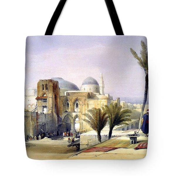 Church Of The Holy Sepulchre In Jerusalem Tote Bag