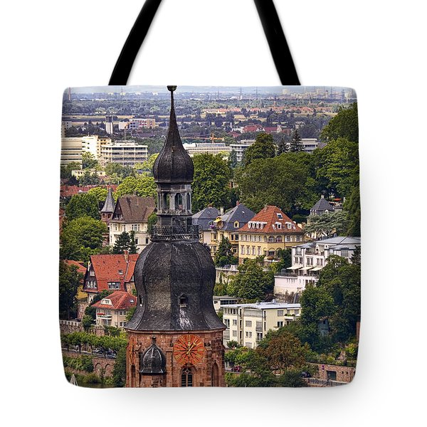 Church Of The Holy Spirit Steeple Tote Bag by Marcia Colelli