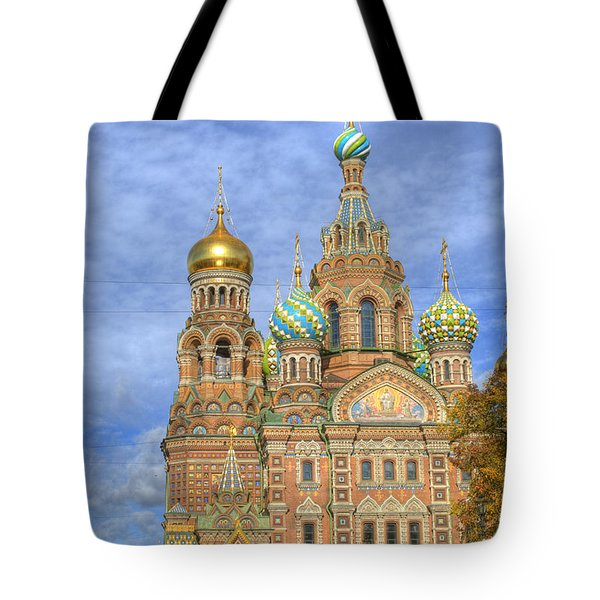 Church Of The Saviour On Spilled Blood. St. Petersburg. Russia Tote Bag by Juli Scalzi