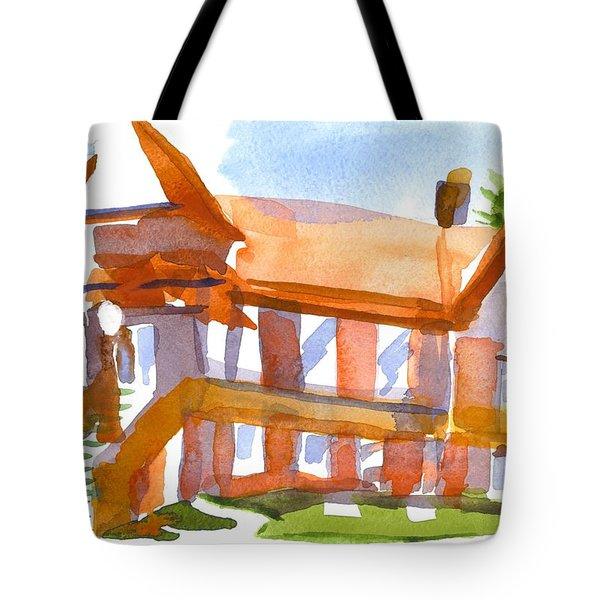 Church On Shepherd Street 4 Tote Bag by Kip DeVore
