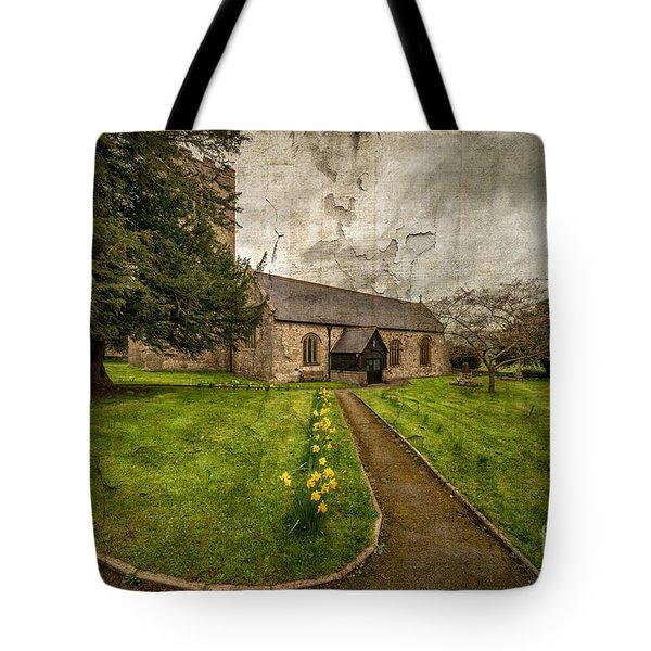 Church Path Tote Bag by Adrian Evans