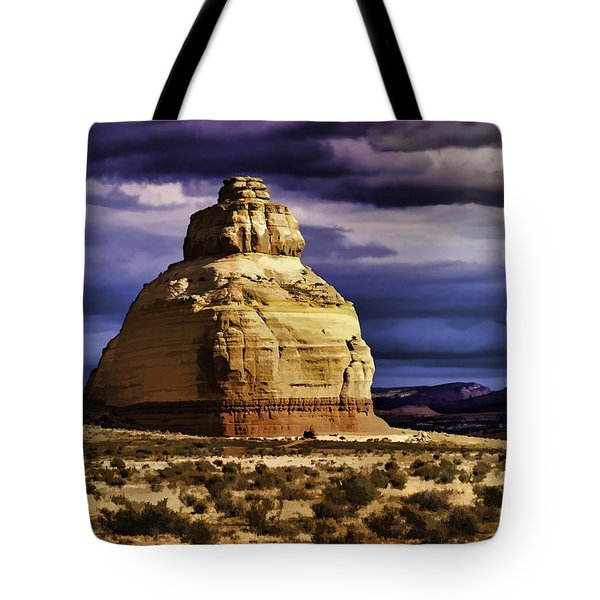 Tote Bag featuring the painting Church Rock  by Muhie Kanawati