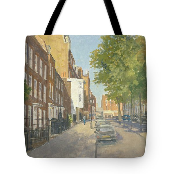 Church Row, Hampstead Oil On Canvas Tote Bag