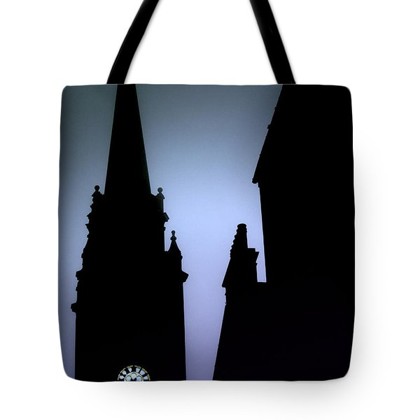 Church Spire At Dusk Tote Bag