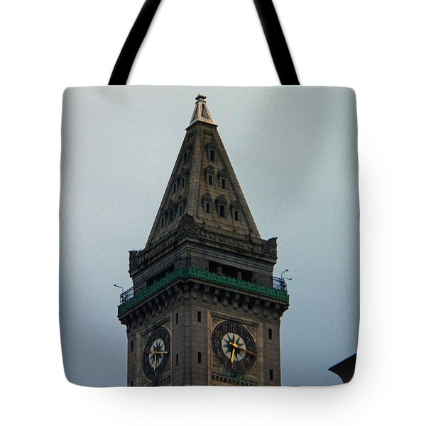 Tote Bag featuring the photograph Church Steeple In Boston by Gena Weiser