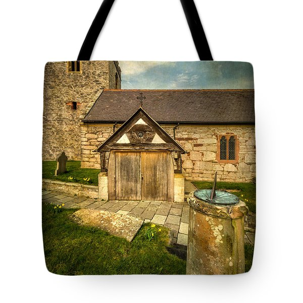 Church Sundial 1806 Tote Bag by Adrian Evans