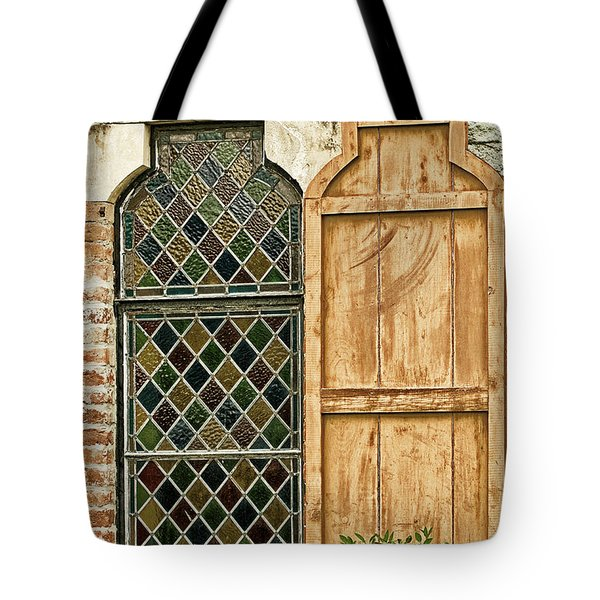 Tote Bag featuring the photograph Church Window - Liberia Antigua by Gary Slawsky