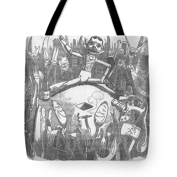 Churchill Lecturing Cartoon Tote Bag