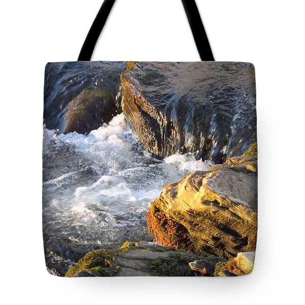 Churning Little Waterfalls On The Watauga Tote Bag