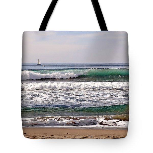 Churning Surf At Monterey Bay Tote Bag