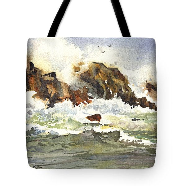Churning Surf Tote Bag